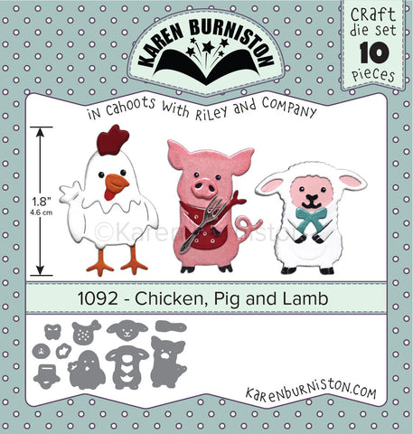 KBR-1092 ~ Chicken, Pig & Lamb