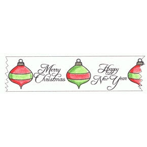 2613E ~ Christmas Ornament Washi Tape