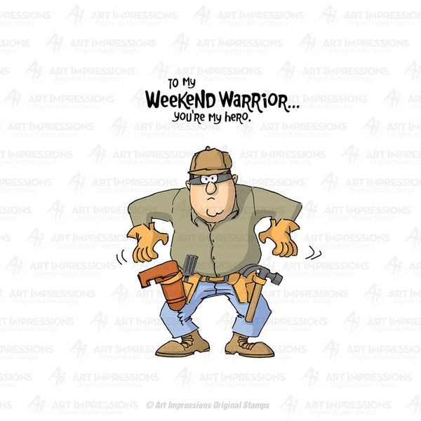 4378 ~ Cling Stamp  ~ Weekend Warrior Set