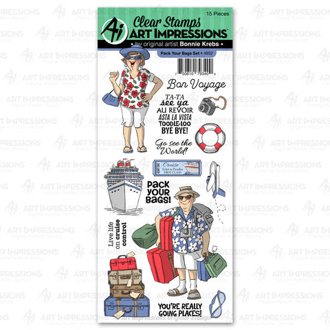 4932 - Clear Stamp ~ Pack Your Bags Set