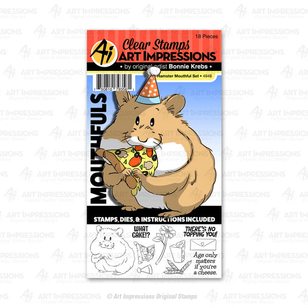 4948 - Clear Stamp & Die Set ~ Hamster Mouthful