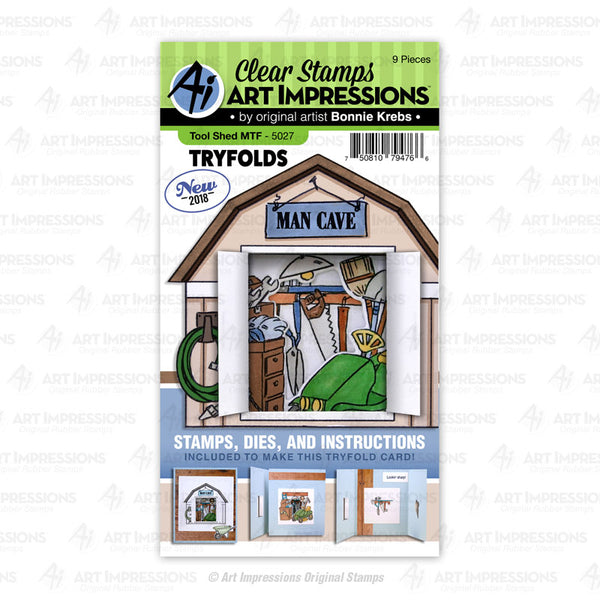5027 - Clear Stamp & Die Set ~ Tool Shed MTF