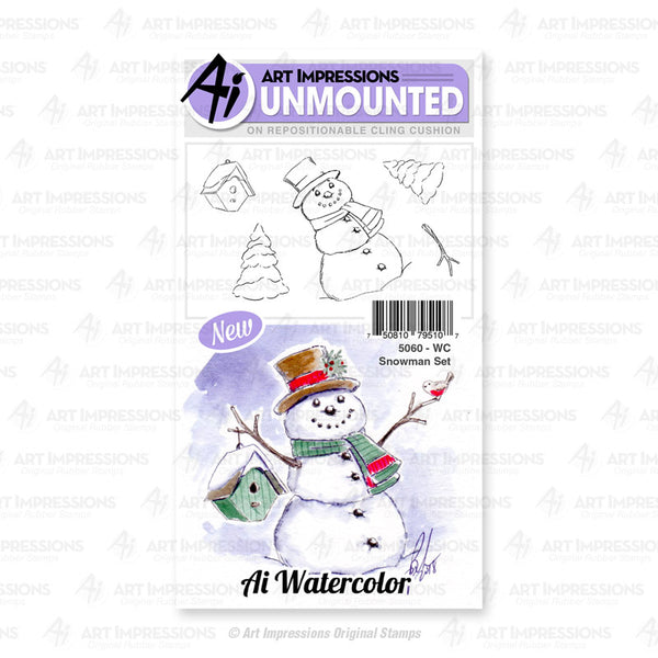 WC5060 - Cling Stamps ~ WC Snowman  Set