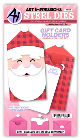 5339 Santa Gift Card Holder Set