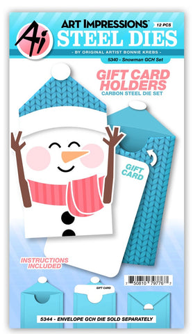 5340 Snowman Gift Card Holder Set