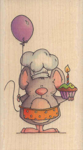 BBY871 Birthday Baker Mouse