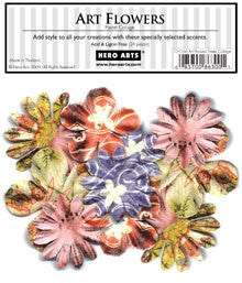 CH166 Art Flowers - Pastel Collage