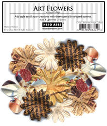 CH167 Art Flowers - Vintage Collage