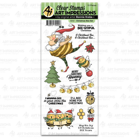 5042 ~ Clear Stamps ~ Christmas Bee Set