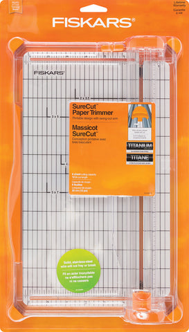 "FSK-7759 ~  Fiskars SureCut 12"" WIDE BASE Paper Trimmer"