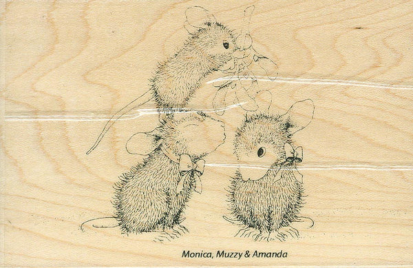 HMP35 House Mouse Designs ~ Mistletoe Mice
