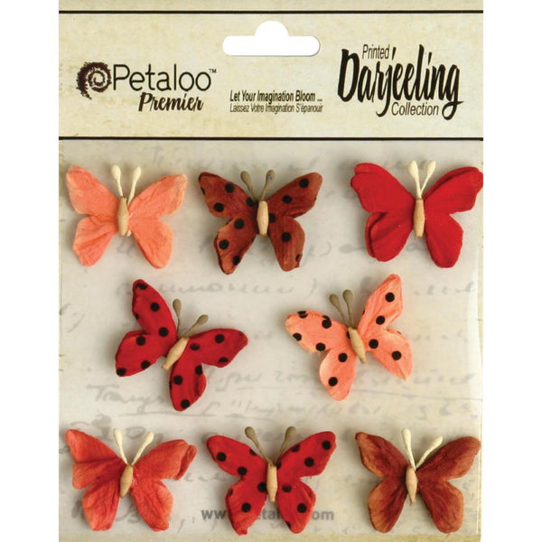 Teastained Pink Layered Butterflies ~ Assorted Colours