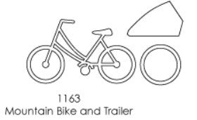 POP1163 ~ Mountain Bike & Trailer