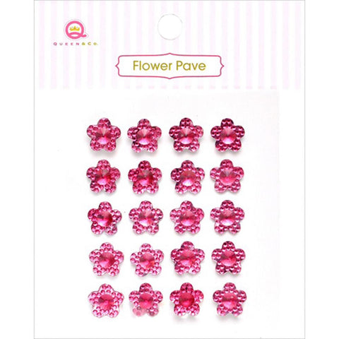 Flower Pave Crystal Embellishments ~ Assorted Colours