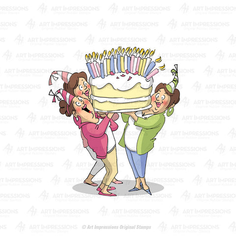 U4386 ~ Cling Stamp  ~ Giant Cake