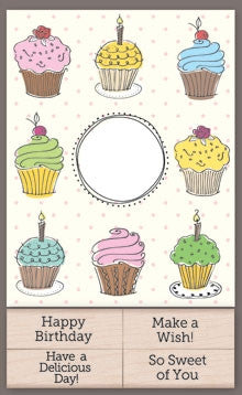 CK204 Cupcake Cards with Messages
