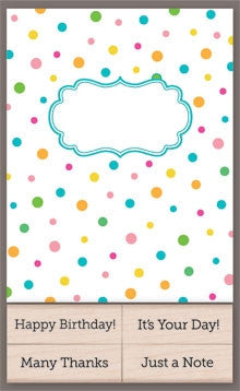 CK205 Polka Dot Cards with Messages