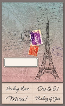 CK207 Eiffel Tower Note Cards w/Stamps