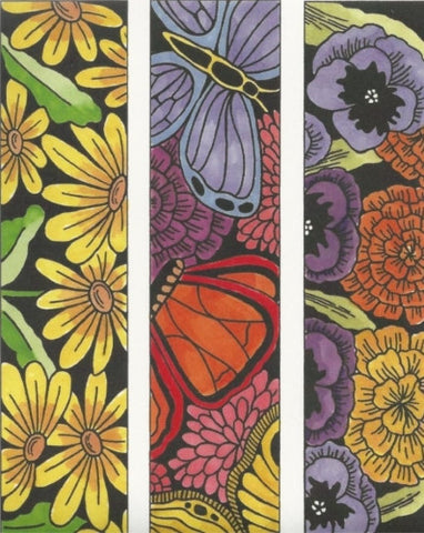 CLS - 002 Large Blooms & Butterflies Strips Cling Mount Set