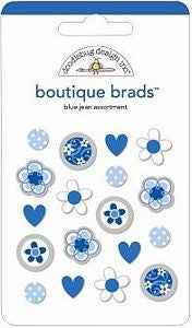 DB-1906 Boutique Brads ~ Blue Jean
