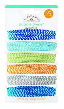 DB-3204 Doodle Twine ~ Boy Assortment