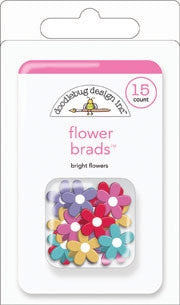 DB-3674 Flower Brads ~ Bright