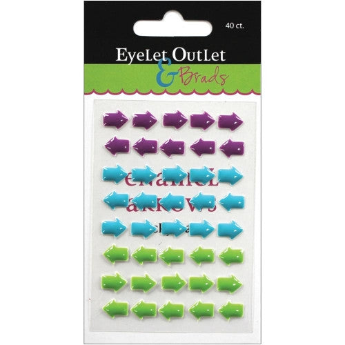 EOB-2148 Sticky Enamel Arrows ~ Green Blue & Purple