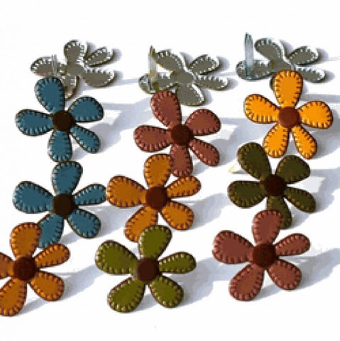 EOB-8880 Eyelet Outlet Brads ~ Stitched Flowers Fall