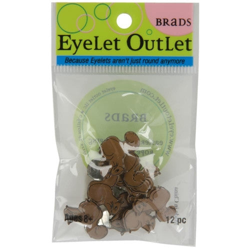 EOB-9184 Eyelet Outlet Brads ~ Squirrel