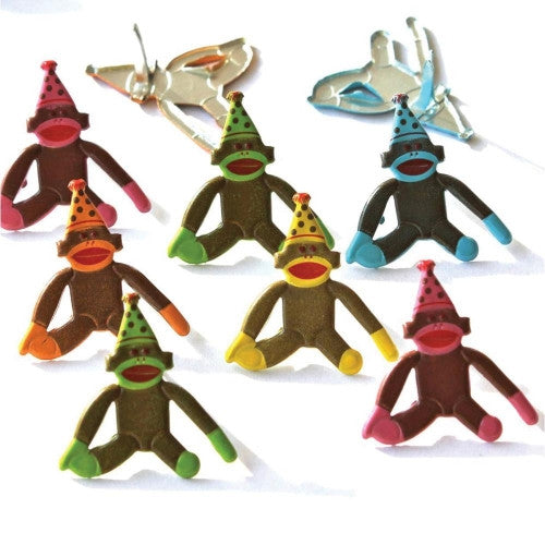 EOB-9283 Eyelet Outlet Brads ~ Birthday Sock Monkey