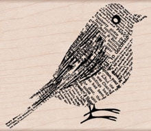 H5580 Newsprint Bird