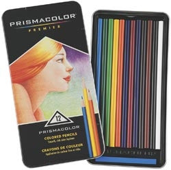 PRP-12 Prismacolor Coloured Artist Pencils ~ 12 Tin