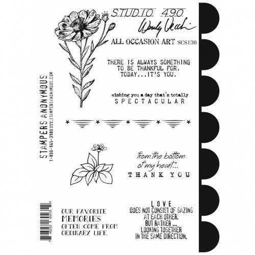 SCS130 Cling Stamp Set ~ All Occasion Art