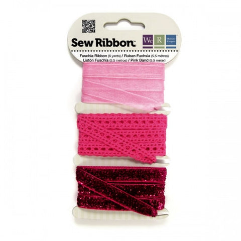 WR71222 Sew Ribbon ~ Fuschia