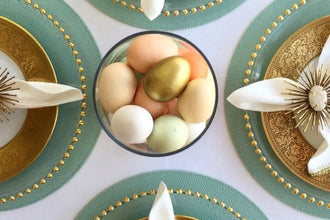 Spring table decor for Easter