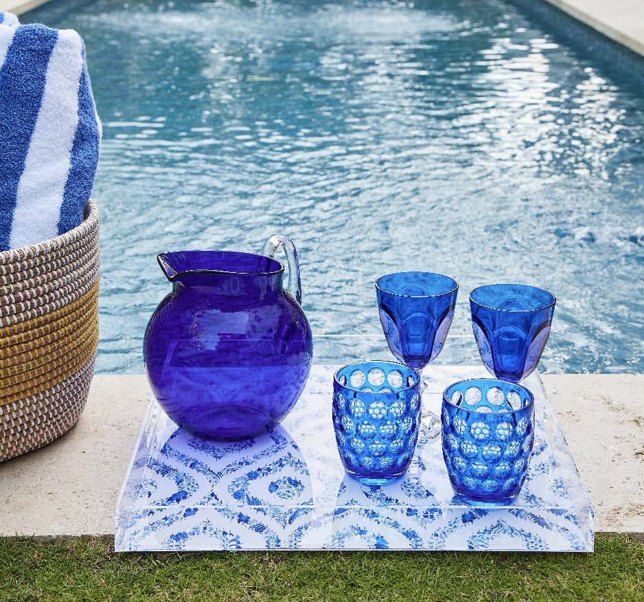 mario luca giusti outdoor glassware blue
