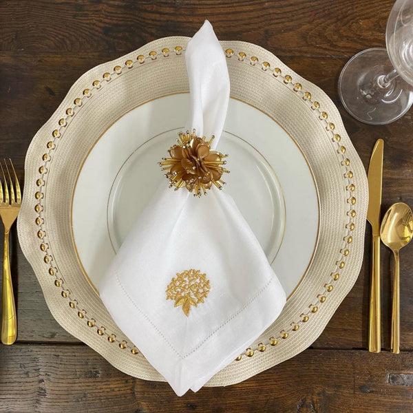 sferra embroidered monogram napkin