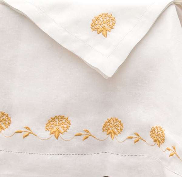 custom monogram gold holiday table cloth