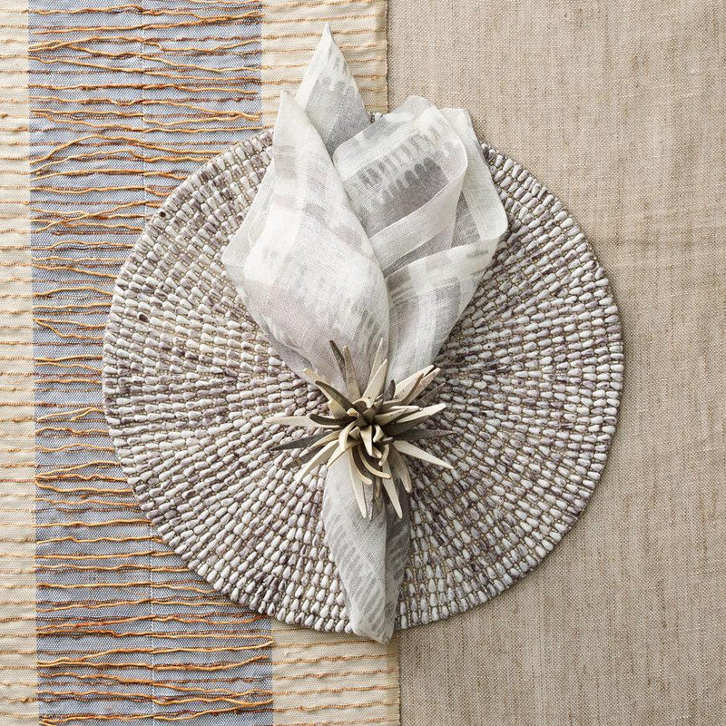 BAZAAR NAPKINS IN IVORY & GRAY