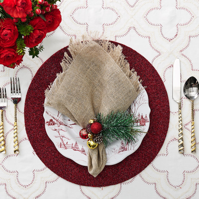 CONFETTI PLACEMAT IN RED - Pioneer Linens