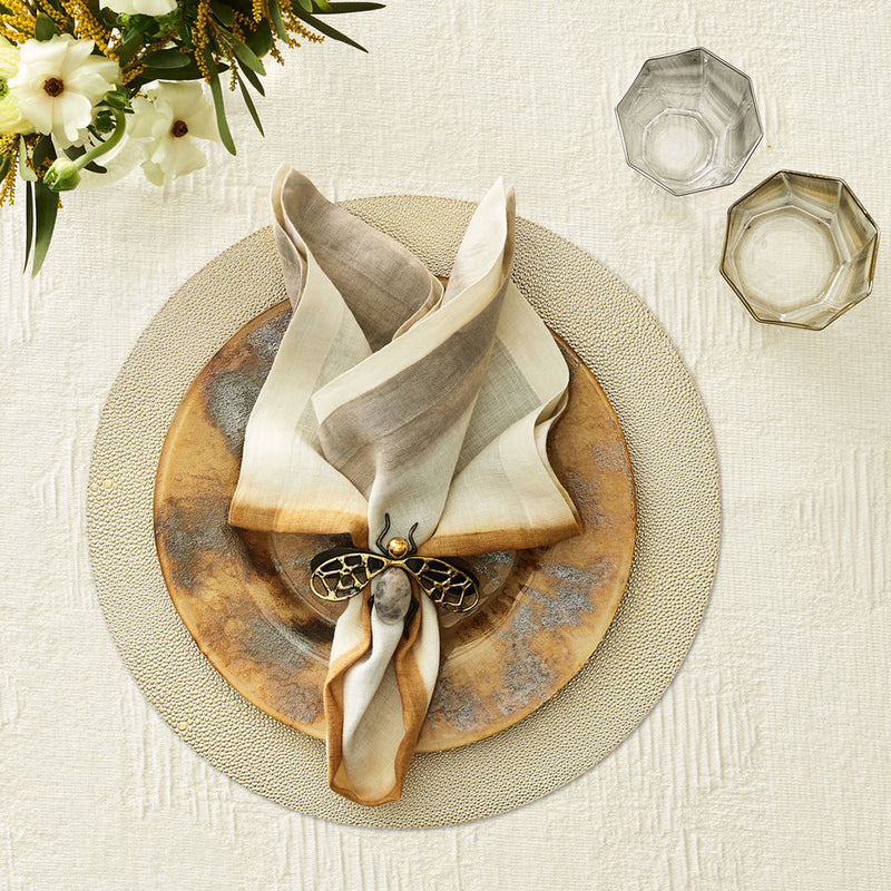 PEBBLE PLACEMAT IN GOLD - Pioneer Linens