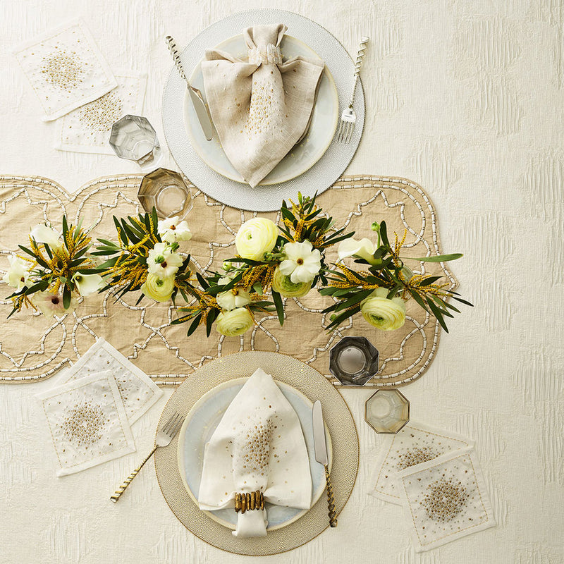 RADIANT NAPKIN RING IN GOLD - Pioneer Linens