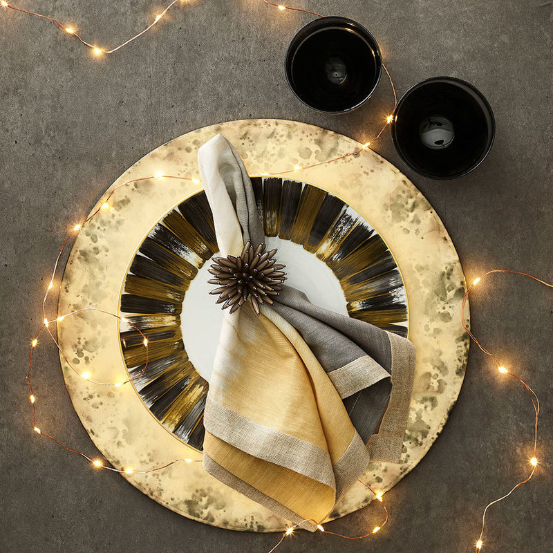 SOLSTICE PLACEMAT IN GOLD - Pioneer Linens