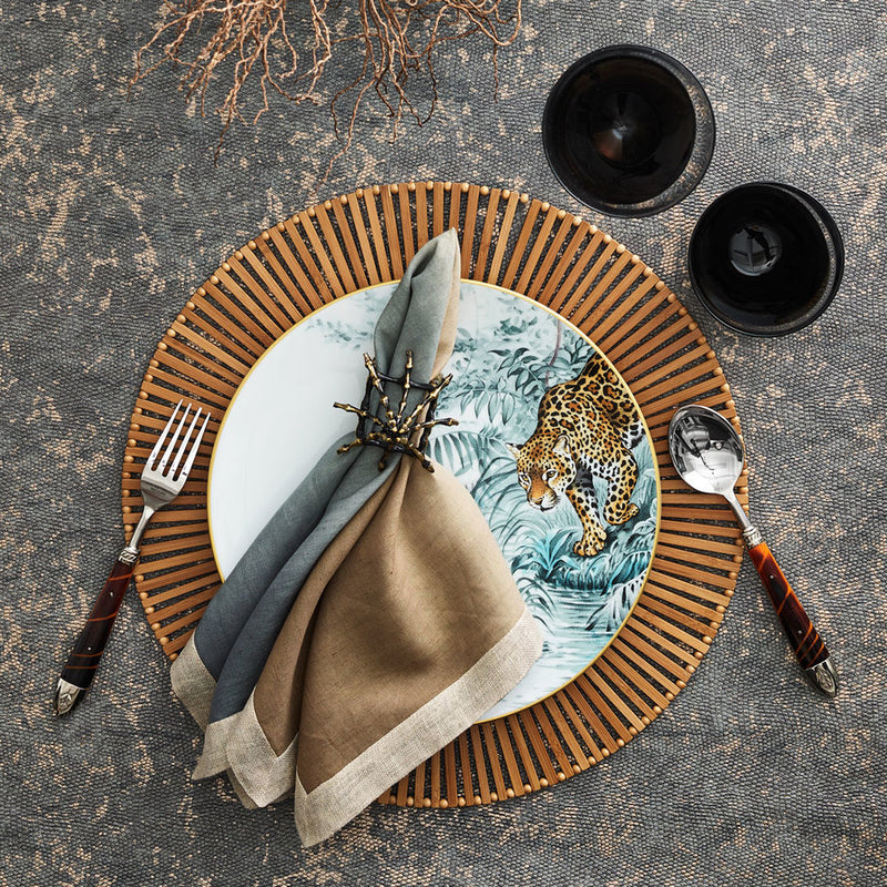 SPOKE PLACEMAT IN BROWN