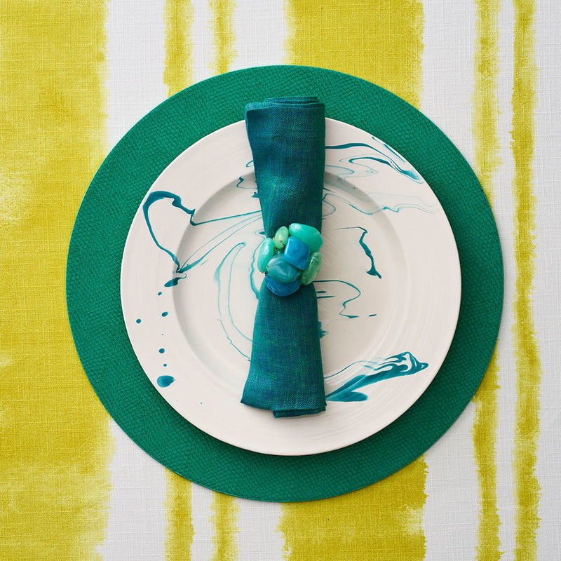 Sea Stone Napkin Ring in Seafoam