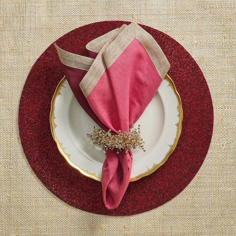 Spray Napkin Rings in Gold Silver - Pioneer Linens