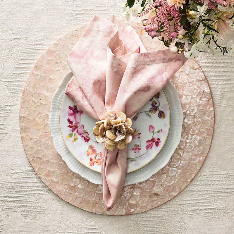 Tahiti Napkin Rings in Natural - Pioneer Linens