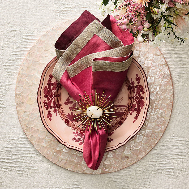 Camellia Placemats in Blush - Pioneer Linens