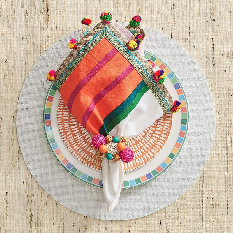 Java Napkin Rings in Multi - Pioneer Linens