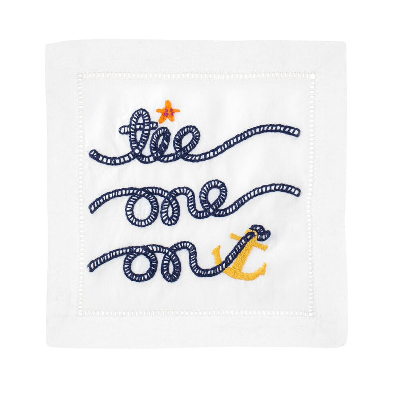 Tie One On Cocktail Napkins - Pioneer Linens